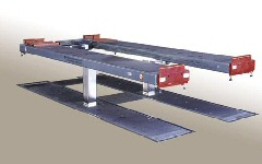 ZS square underfloor car lift.