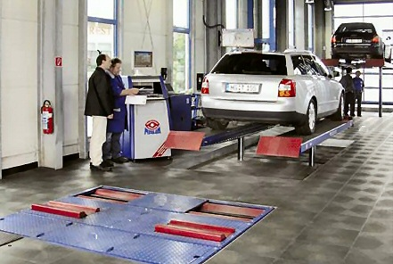 Typical Modular Eurosystem Vosa MOT test bay set up